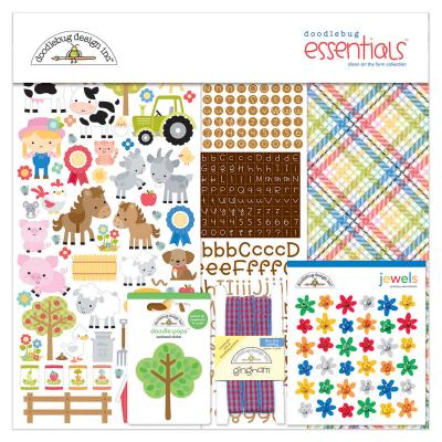 Doodlebugs Down on the Farm - Essentials Kit